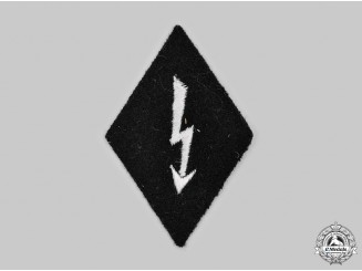 Germany, SS. A Waffen-SS Signals Personnel Sleeve Diamond