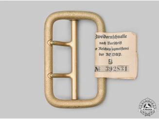 Germany, NSDAP. A Mint and Unissued Political Leader's Belt Buckle, by Dominik Schönbaumfelds Sohn