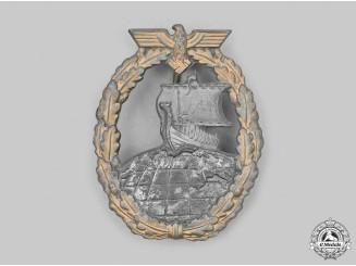 Germany, Kriegsmarine. An Auxiliary Cruiser War Badge, by Friedrich Orth