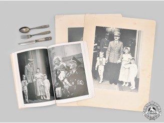 Germany, NSDAP. A Cutlery Set Gifted to the Godchildren of A.H., accompanied by Photographs and Book, c. 1940