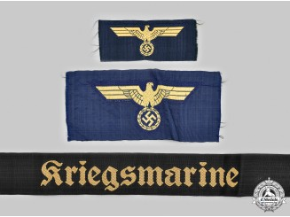 Germany, Kriegsmarine. A Lot of Uniform Insignia