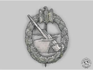 Germany, Kriegsmarine. A Coastal Artillery War Badge, by Schwerin