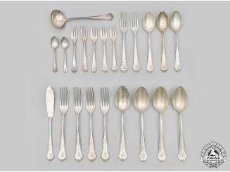 Germany, Imperial. A Personalized Silverware Set, by Hanseatische Silberwarenfabrik, c.1900