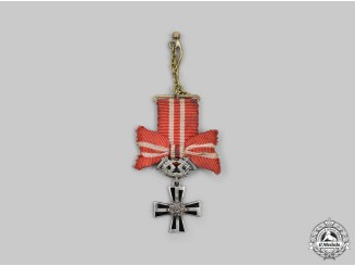Finland, Republic. A Miniature Order of the Cross of Liberty, IV Class, Military Division