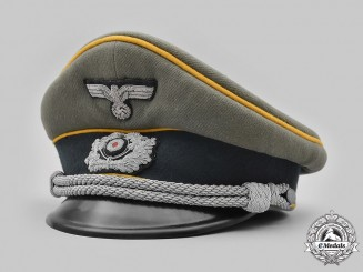 Germany, Heer. A Cavalry/Reconnaissance Officer's Visor Cap, by Erel