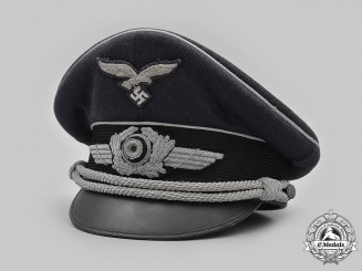 Germany, Luftwaffe. An Officer's Visor Cap, by Erel