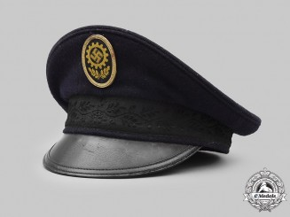 Germany, DAF. A German Labour Front Enlisted Personnel Visor Cap, by A. Mielchen