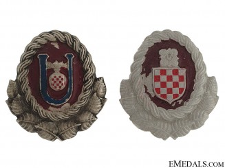 Ustasha & Army Officer's Cap Badges