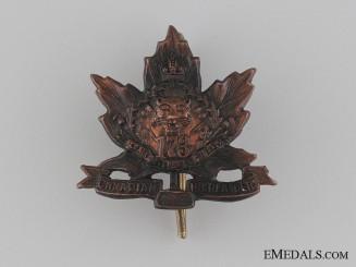 WWI 173rd Infantry Battalion Collar Tab CEF