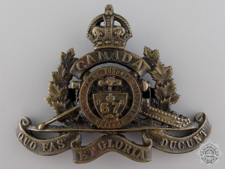 WWI 67th University of Toronto Overseas Field Battery Cap Badge