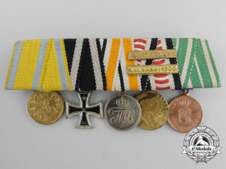A Fine German Imperial Miniature Medal Bar