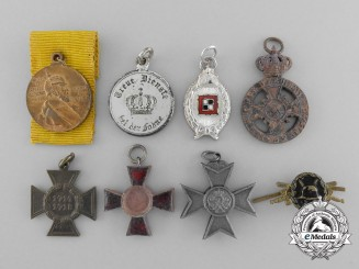 Eight Miniature German Medals, Awards, and Decorations