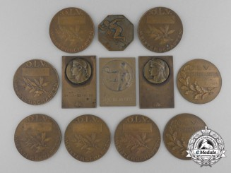 Twelve Pre Second War Jewish Sport Medal & Awards