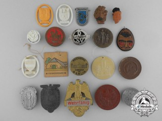 Germany, Third Reich. Twenty Two War Period Tinnies and Badges