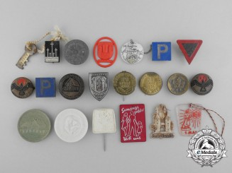 Germany, Third Reich. A Lot of Twenty Two Period Tinnies and Badges
