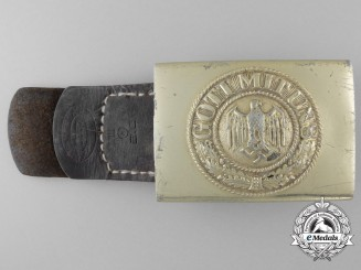 A Kriegsmarine Enlisted Man's Belt Buckle by Richard Simm & Sohne