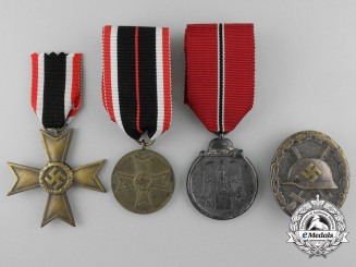 Four Second War German Awards, Decorations, & Badges