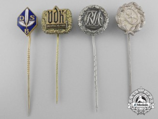 Germany. Four Stickpins Awards