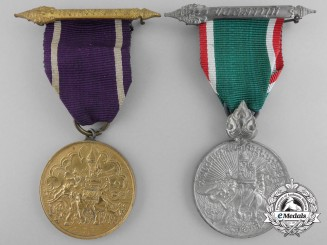Two Thai Service Medals; Border & East Asia Combat
