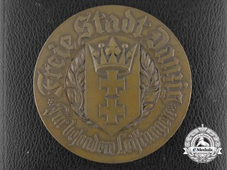 A 1933 Free City of Danzig Medal for Special Cultural Services with Case