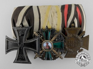 A Fine First War Order of the Zähringer Lion Medal Bar