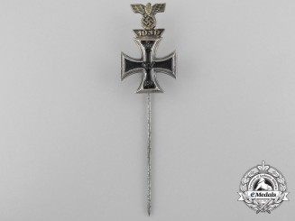 A Miniature 1914 Iron Cross with Clasp to the Iron Cross 1939