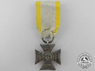 A 1834 Nassau Long Service Decoration; Silver Cross for Ten Years Service