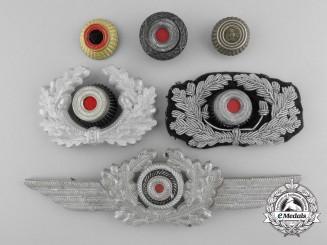 Seven German Army Visor Insignia