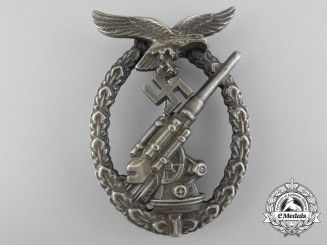 An Early Luftwaffe Flak Badge by C.E. Juncker