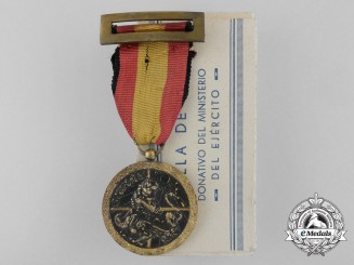 A 1936-1939 Spanish Campaign Medal with Carton
