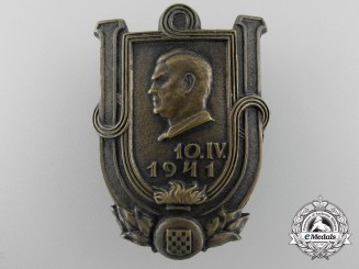 A Second War Ustasha Commemorative Silver Grade Award