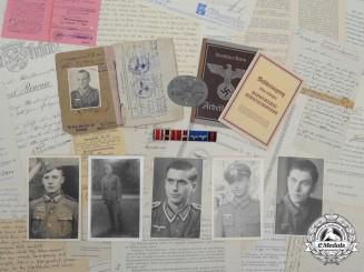 A Group of Award Documents, Photos, Letters, Schützen 13./I. R.401