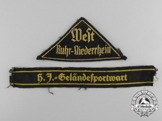 Two League of German Girls (BDM) Insignia