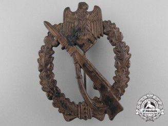 A Bronze Grade Infantry Badge by Fritz Zimmermann