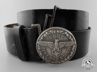 A Rare Slovakian Freiwillige Schutzstaffel Leaders Belt with Buckle