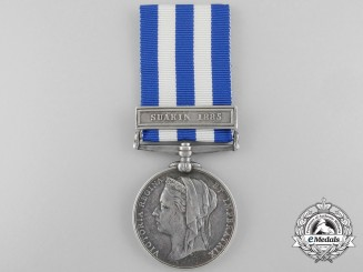 An 1882-89 Egypt Medal to Gunr T.T.Chappell; Royal Artillery