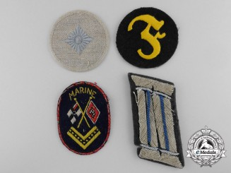 Four German Cloth Insignia