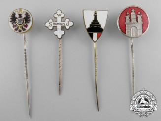 Four German Imperial Stickpins