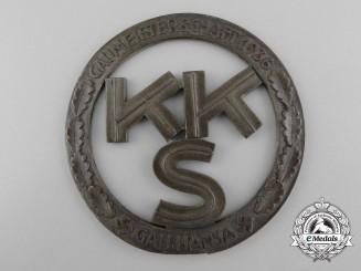 Germany, Third Reich. A Shooting Association Hansa District Champion's Award