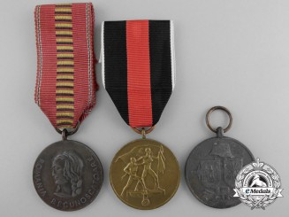 Three Second War Axis Medals and Awards