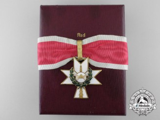 A Croatian Order of King Zvonimir's Crown; 1st Class with Oak Leaves & Case