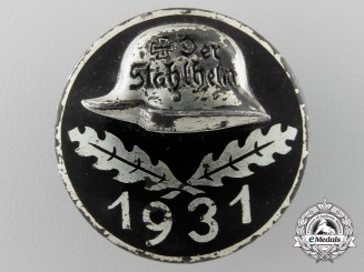 A 1931 Der Stahlhelm Veteran's Association Membership Badge