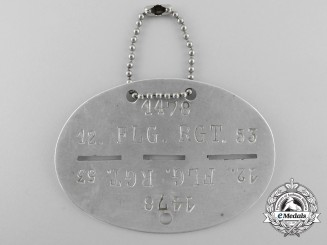 A Identification Tag to the 12th Fallschirmjäger Regiment