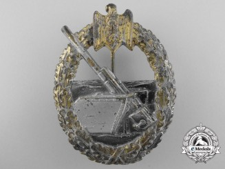 A Kriegsmarine Coastal Artillery Badge by Hermann Aurich