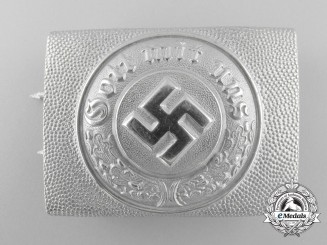 A German Police Enlisted Man's Belt Buckle 1936-1945 by Christian Theodor Dicke