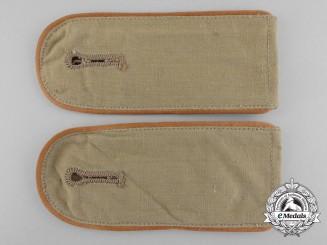 A Set of Army Afrika Korps Enlisted Man's Shoulder Boards