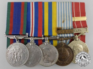 Canada. A Second & Korean War Medal Bar to Quarter Master Sergeant