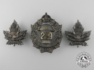 A First War 229th Infantry Battalion Insignia Set CEF