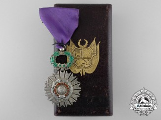 A Peruvian Order of the Sun; Knight with Case