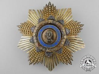 A Cuban Order of Carlos Manual Cespedes; Grand Cross Star